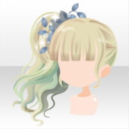 (Hairstyle) Leaf on Elf Ponytail Hair ver.A pink