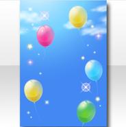 (Wallpaper Profile) Sunny Cheer Balloons Wallpaper ver.A blue