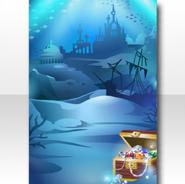 (Wallpaper Profile) Treasure Sunk into Water Wallpaper ver.A blue