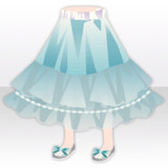 (Pant&Skirt) Tea Party Silky Pajama Skirt ver.A blue