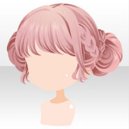 (Hairstyle) Handmaid Braided Up Hair ver.A pink