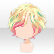 (Hairstyle) Sexy Highlight Short Hair ver.A yellow