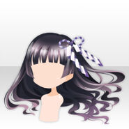 (Head Accessories) Ribbon on Horror Shrine Maiden Hair ver.A black