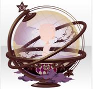 (Back Accessories) Traveling Stars Celestial Globe ver.A purple