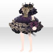 (Tops) Dream Cloud Crown Neck Mini Dress ver.A black