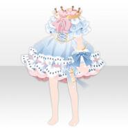 (Tops) Dream Cloud Crown Neck Mini Dress ver.A white