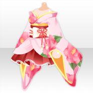 (Tops) Oinari-sama Kimono One-Piece ver.A pink