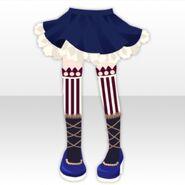 (Pant&Skirt) Circus Girl Socks and Skirt ver.A blue