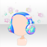 (Head Accessories) Virtual Planet Star Sound Headphones ver.A blue