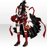 (Tops) Punk Battle Uniform Style ver.A red