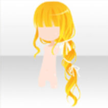 (Hairstyle) Curly Ribbon Side Braided Hair ver.A yellow