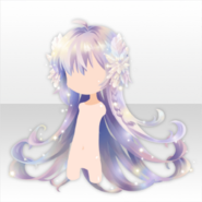 (Hairstyle) Fallen Feather Lightning Angel Aurora Long Hair ver.A white