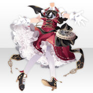 (Tops) Night Phantom Mademoiselle Thief Style ver.A red