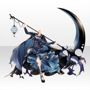 (Tops) Underworld Death Scythe Gothic Cape Dress ver.A blue