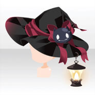 (Head Accessories) Lamp on Witch Hat ver.A black