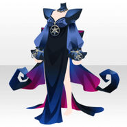 (Tops) Evil Lady Double-Slit Sexy Dress ver.A blue