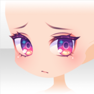 (Face) Wizardly School Sad Eyed Face ver.A purple