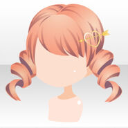 (Hairstyle) Royal Girl Hairpin on Curly Hair ver.A orange