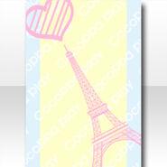 (Wallpaper Profile) Big Heart in Paris Wallpaper ver.A purple