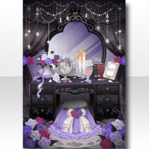 (Wallpaper Profile) Rose Blooming Dresser Wallpaper ver.A black
