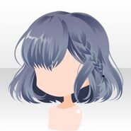 (Hairstyle) Phantom Side Braided Bob Hair ver.A blue