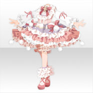 (Tops) Champignon Fluffy Lolita Dress ver.A pink