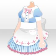 (Tops) Maid Apron One-Piece ver.A blue