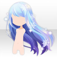 (Hairstyle) Mysterious Aurora Long Hair ver.A blue