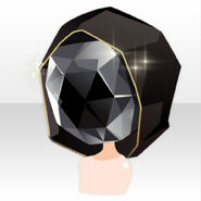 (Hairstyle) Pure Crystal Hoodie Jewelry Head ver.A black