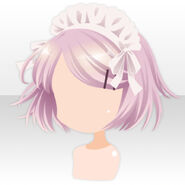 (Hairstyle) Sky Dragon Short Hair with Brim ver.A pink