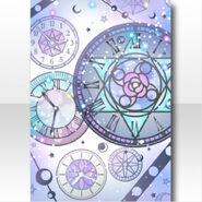 (Wallpaper Profile) Glass Shower Clock Wallpaper ver.A blue
