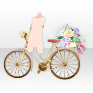 (Avatar Decor) Taisho Roman Bicycle with Flower Basket ver.A brown