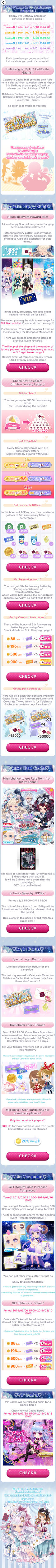 (Promotion) CocoPPa Play 5th Anniversary Promo 1