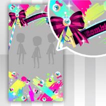 (Show Items) Glittery Zombie Ribbon Flag Decor2 ver.1