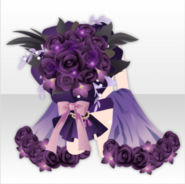 (Outerwear) Dark Rose Bouquet for Loved One ver.A purple