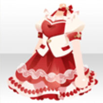 (Tops) Coco's Cute Frill Dress Tops ver.A red
