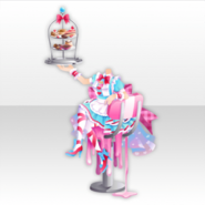 (Tops) Pop Waitress Attractive Sweet Heart Style ver.A pink