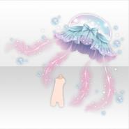 (Avatar Decor) Deep-Sea Floating Jellyfish Umbrella ver.A white