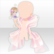 (Outerwear) Small Fairy and Fluffy Fairy Hagoromo ver.A pink