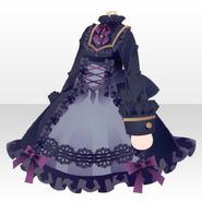 (Tops) Dark Girl Gothic Loloita Dress ver.A purple