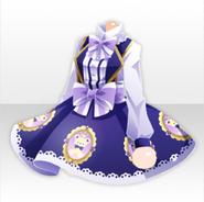 (Tops) Dolls Tea Party Teddy Bear Dress ver.A purple