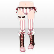 (Pant&Skirt) Chocolat Knight Lace-up Boots ver.A brown