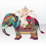 (Tops) Ethnic Tale Bride Riding an Elephant Style ver.A white