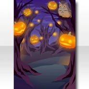 (Wallpaper Profile) Illuminating Pumpkin Lanterns Wallpaper ver.A purple