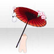 (Body Accessories) Teru teru bozu and Cherry blossoms on Umbrella ver.A red