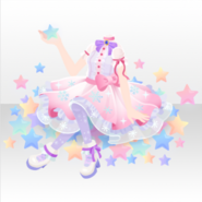 (Tops) Kawaii★Stardust One-Piece ver.A pink