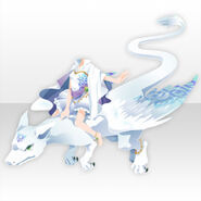 (Tops) Sky Dragon and Princess Style ver.A white
