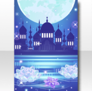 (Wallpaper Profile) Jewelry Princess Midnight Palace Wallpaper ver.A blue