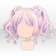(Hairstyle) Sweet Rose Wavy Pigtails Hair ver.A pink