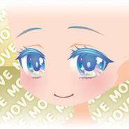 (Face) Shining Aurora Smiling Face ver.A blue